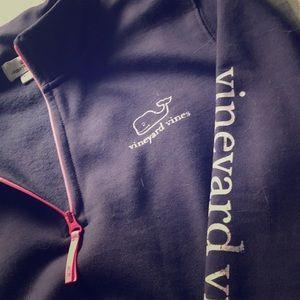 Vineyard Vines Quarter Zip Navy Sweater